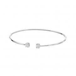 Dinh Van 18k White Gold and Diamond Le Cube Bracelet