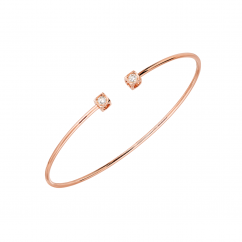 Dinh Van Le Cube 18k Rose Gold and Diamond Bracelet