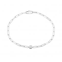 Dinh Van Le Cube Diamond and 18k White Gold Bracelet