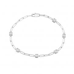 Dinh Van Le Cube 18k Gold and Diamond Bracelet