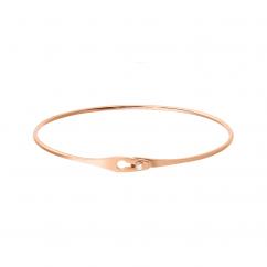 Dinh Van 18k Rose Gold Serrure Jonc Bracelet