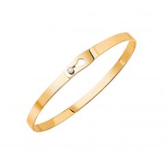 Dinh Van 18k Yellow Gold Serrure Ruban Bracelet