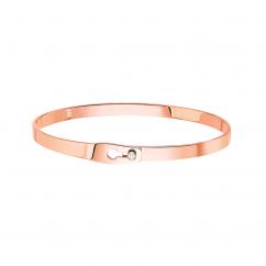 Dinh Van 18k Rose Gold Serrure Ruban Bracelet