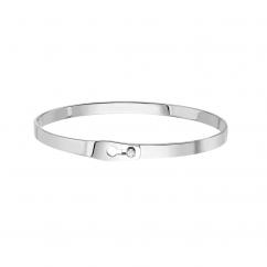 Dinh Van 18k White Gold Serrure Ruban Bracelet