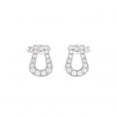 Fred Force 10 18k White Gold and Diamond Earrings, Exclusively at Hamilton Jewelers