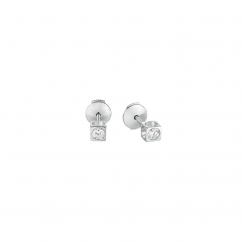 Dinh Van Le Cube 18k White Gold and Diamond Earrings