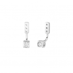 Dinh Van Le Cube 18k Gold and Diamond Earring Jackets
