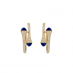 Marli Cleo 18k Gold and Lapis Earrings