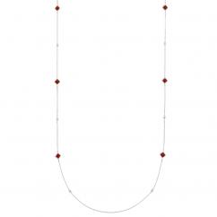 Marli 18k White Gold Cleo Long Chain Frisky Necklace