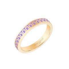 L'Arc de DAVIDOR Ring PM, 18k Yellow Gold with Lavender Lacquer
