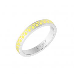 L'Arc de DAVIDOR Ring PM, 18k White Gold with Limoncello Lacquer