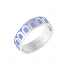 L'Arc de DAVIDOR Ring MM, 18k White Gold with Hortensia Lacquer