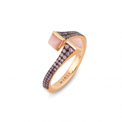 Marli Cleo 18k Gold Sapphire and Opal Ring