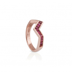 Kavant and Sharart Origami 18k Rose Gold and Ruby Ring