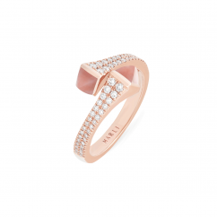 Marli Cleo 18k Rose Gold and Pink Opal Ring