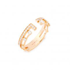 Marli 18k Rose Gold Avenues Index Ring