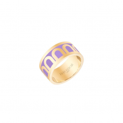 DAVIDOR L'Arc Ring GM, 18k Yellow Gold with Lavande Lacquered Ceramic