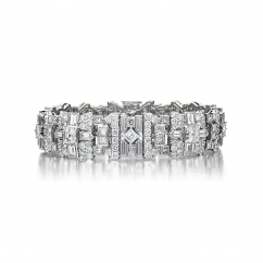Private Reserve Platinum and Diamond Deco Bracelet