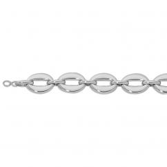 Sterling Silver Oval Link Bracelet