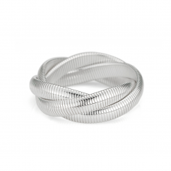 Sterling Silver Triple Woven Cobra Bracelet