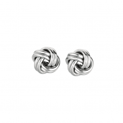 Hamilton Sterling Silver 2 Row Knot Earrings
