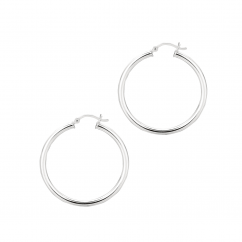 Hamilton Sterling Silver 35mm Hoop Earrings