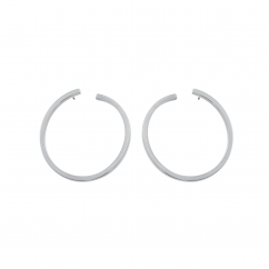 Sterling Silver 35mm Hoop Earrings