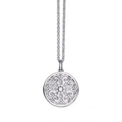 Arabesque Sterling Silver and Diamond Locket