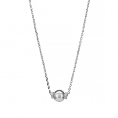 Artisan Sterling Silver and Diamond Rondel Pendant
