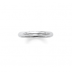 14k White Gold 3mm Comfort Fit Wedding Band