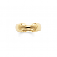 14k Yellow Gold 6mm Comfort Fit Wedding Band