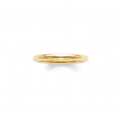 14k Yellow Gold 2.5mm Comfort Fit Wedding Band