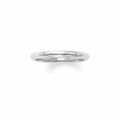 14k White Gold 2.5mm Comfort Fit Wedding Band