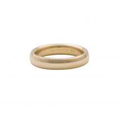 18k Yellow Gold 4mm Comfort Fit Wedding Band