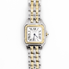Pre-Owned Cartier Stainless Steel and 18k Yellow Gold Panthere Circa 2017