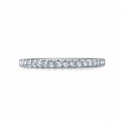 Duet 18k White Gold and .24TW Diamond Band
