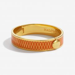 Halcyon Days Parterre Orange and Gold Bangle